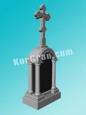 Гранитный крест K_709
