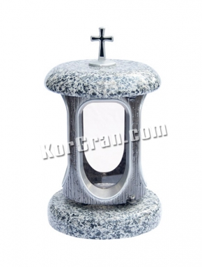 LP-7 - Лампада Покостовка (корпус под серебро, крышки серый гранит)