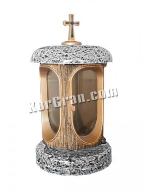 LP-8 - Лампада Серый гранит (корпус под золото, крышки серые)