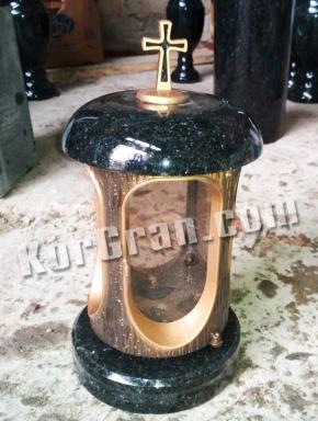 LP-3 - Лампада Габбро (корпус под золото, крышки черные)